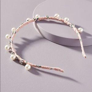 NWT Anthropologie Pearl Crystal Headband